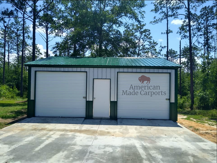 24x30x11 Two Tone All-Vertical Garage