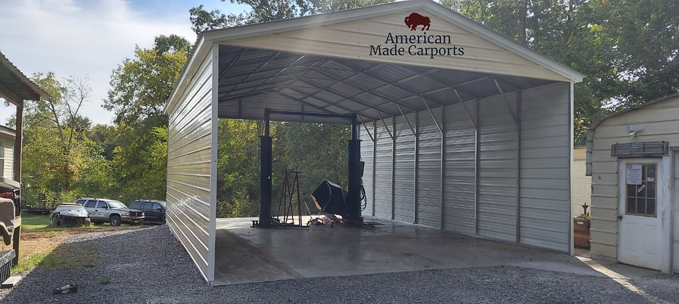 24x35x12 Metal Roof RV Cover
