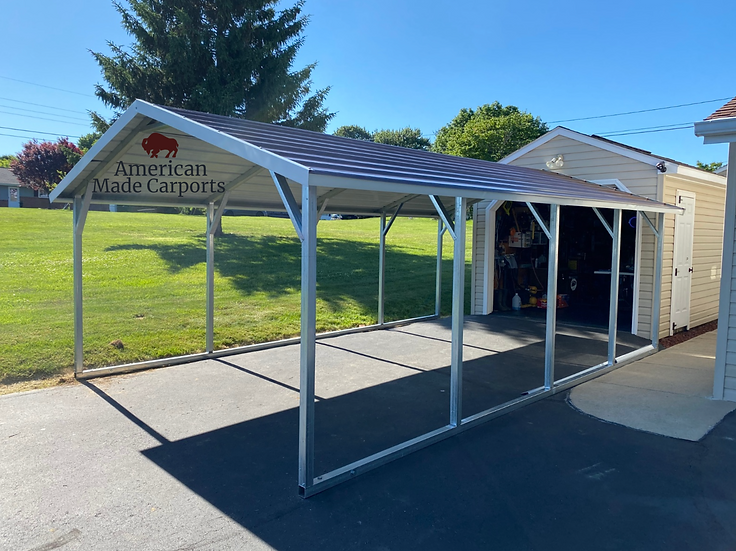 12x20x8 Boxed Eave Roof Style Carport