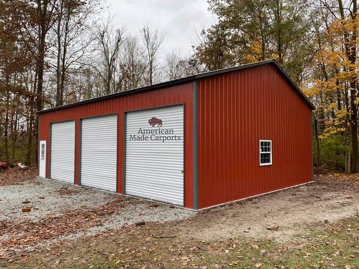 30x45x12 All Vertical Roof Garage