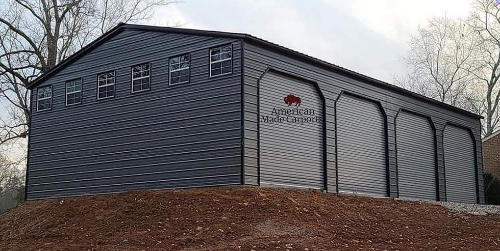 30x50x12 Quaker Gray Vertical Garage