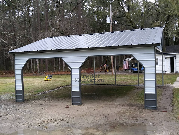 22x20x9 Vertical Roof Two-Tone Carport