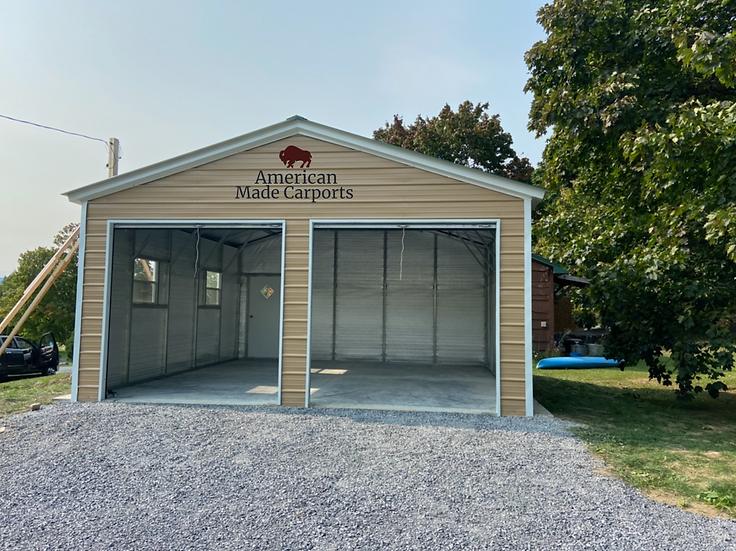 22x25x9 Vertical Roof Garage