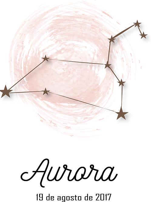 Lámina Constelación personalizada