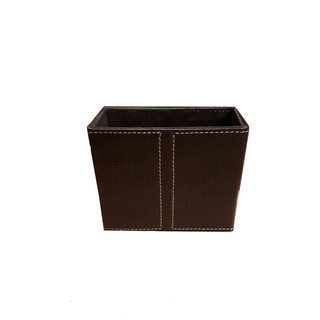 Table Top Leather Pen Stand