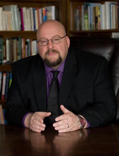Bill Purple Shirt Black Jacket Desk II 1
