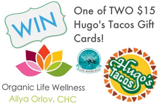 Win one of TWO Hugo's Tacos $15 gift cards!