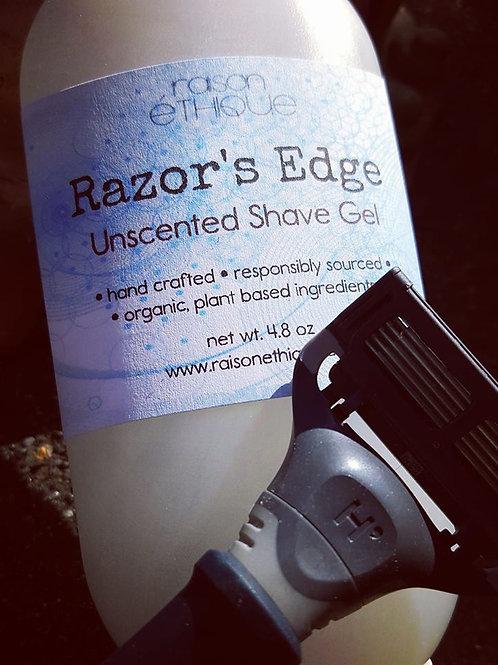 razor's edge unscented organic shave gel
