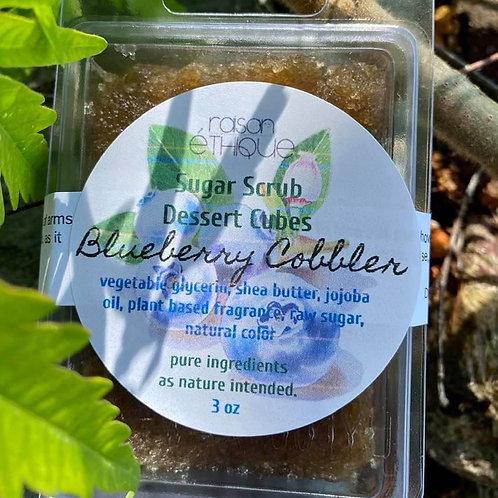 Blueberry Cobbler Exfoliating Sugar Scrub Dessert Cubes