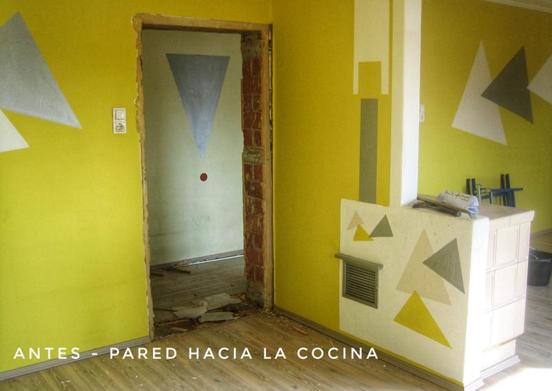 Wand zur Küche