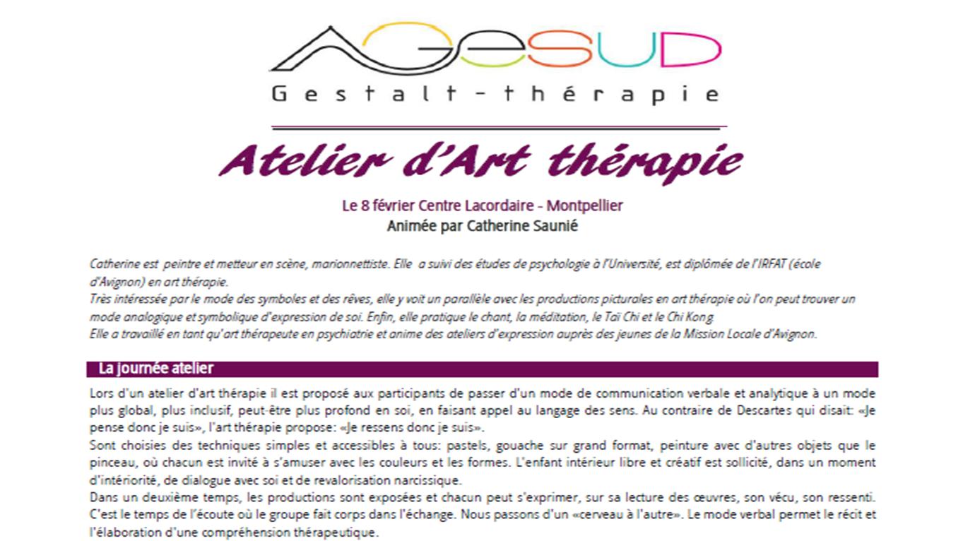 atelier découverte art therapie
