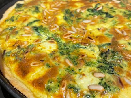 Spinat-Birnen Quiche
