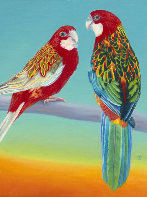 Pair of Parrots Giclee