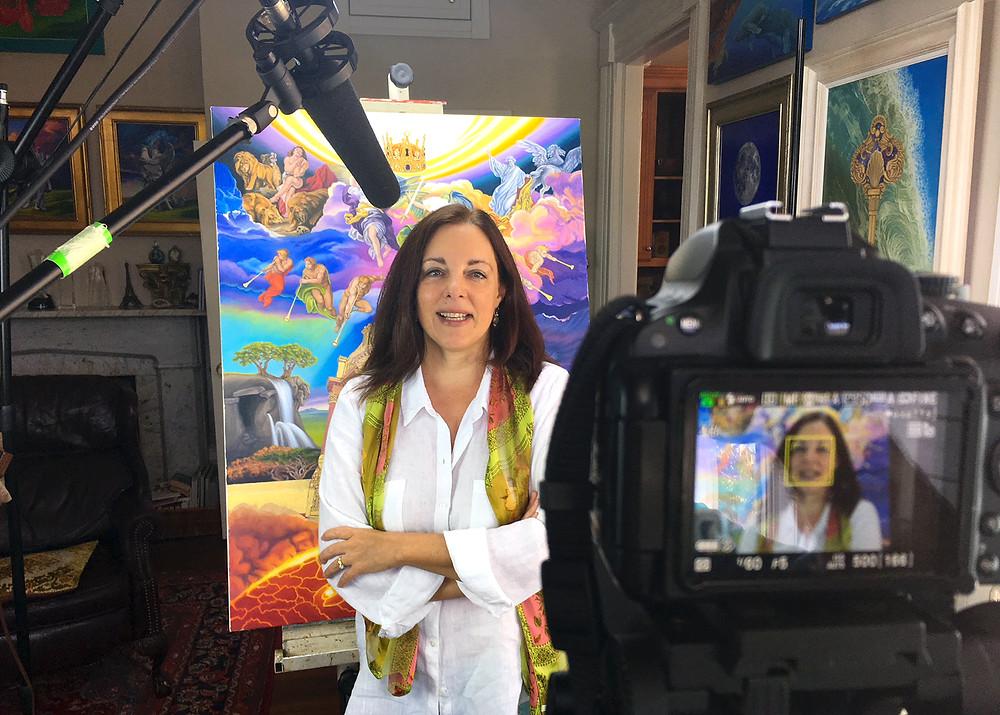 Sheila on camera