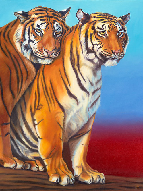 Tiger Canoodle Giclee