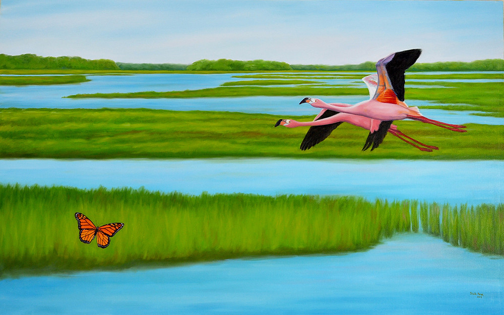"""Looking Forward to Being Home"" Oil on canvas 48 x 30 inches"