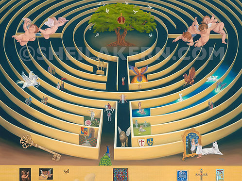 The Labyrinth Painting Giclee