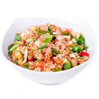 Тяхан(обжареный рис) с овощами