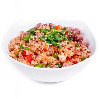 Тяхан(обжареный рис) с морепродуктами и овощами