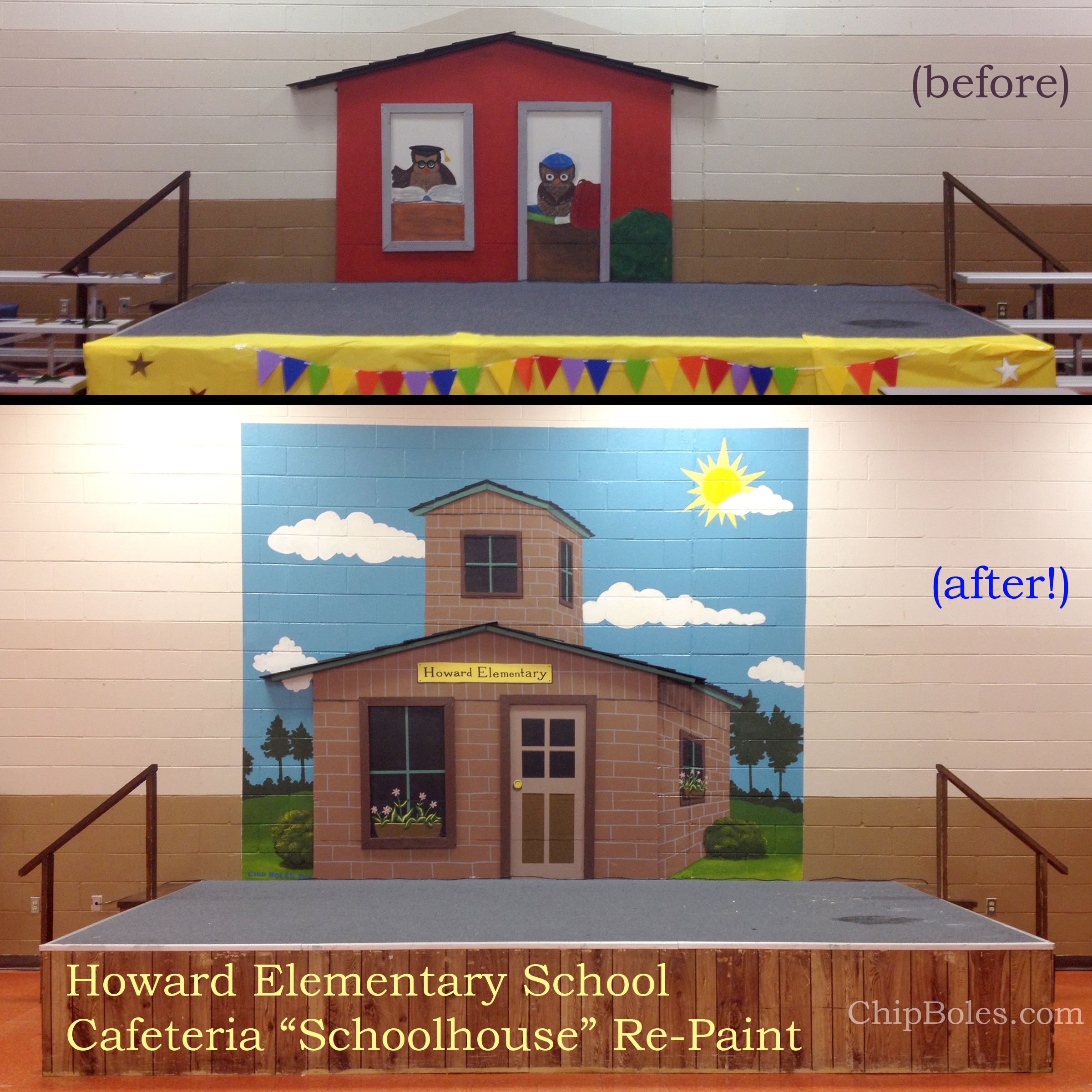 """Our Schoolhouse"" Cafeteria Mural"
