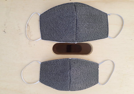 Máscara Herringbone