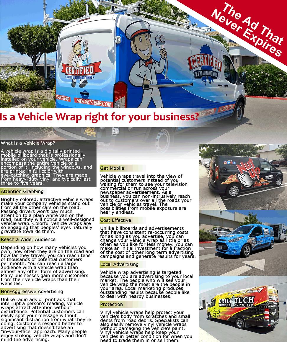 Vehicle Wrap Flyer