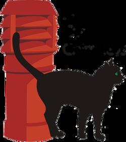Black Cat Chimneys t shirt copy