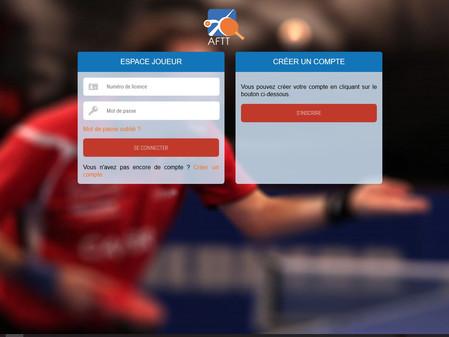 AFTT - Aile Francophone de Tennis de Table - Guide d'utilisation