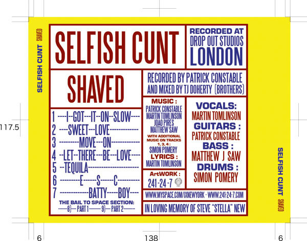 "SELFISH C**T ""SHAVED"""