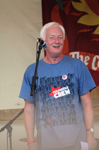 Nigel Costley, the South Regional secratary of the TUC, speaks at Tolpuddle 2017.