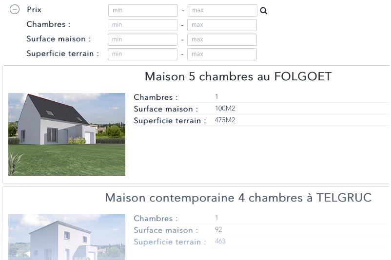 Maisons TY-NEVEZ Les offres de terrains & terrains+maisons