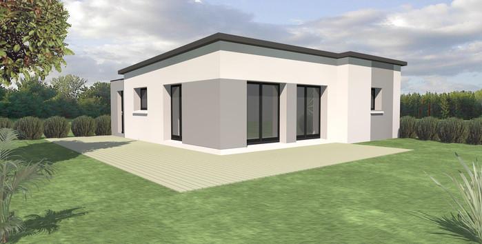 Maison TY-NEVEZ plain pied toit plat