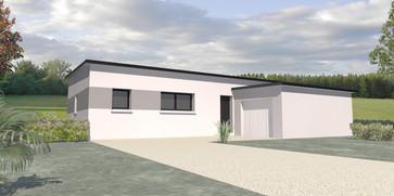 Maison TY-NEVEZ plain pied toit moderne