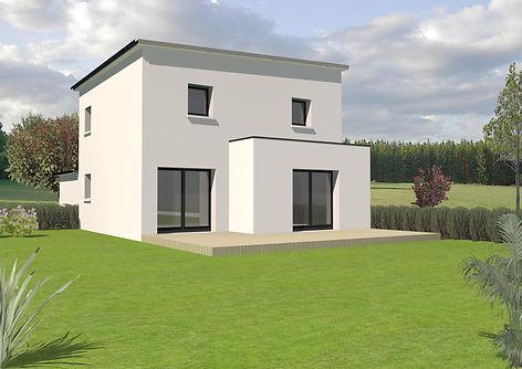 Maison TY-NEVEZ contemporaine sur 2 niveaux sélectionnée par nos clients et visiteurs