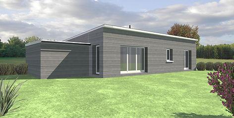 Maison TY-NEVEZ contemporaine de plain-pied, architecture bois sélectionnée par nos clients et visiteurs