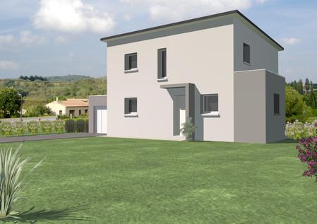 Maison TY-NEVEZ contemporaine avec toit plat
