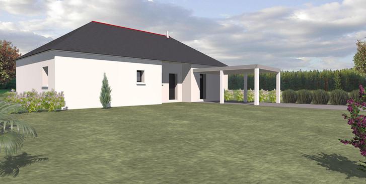 Maison TY-NEVEZ plain pied toit ardoises et carport