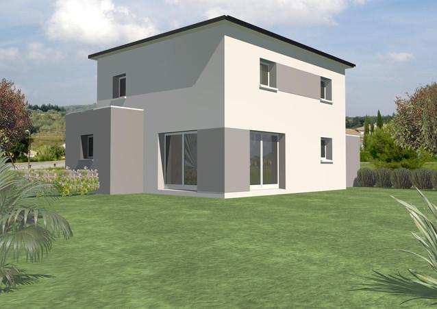 Maison TY-NEVEZ moderne toit plat