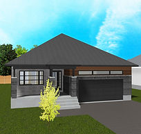 Bellevue Modern 3D Render 23x17.25 Optio