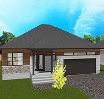 Belfort Modern 3D Render 23x17.25 Option