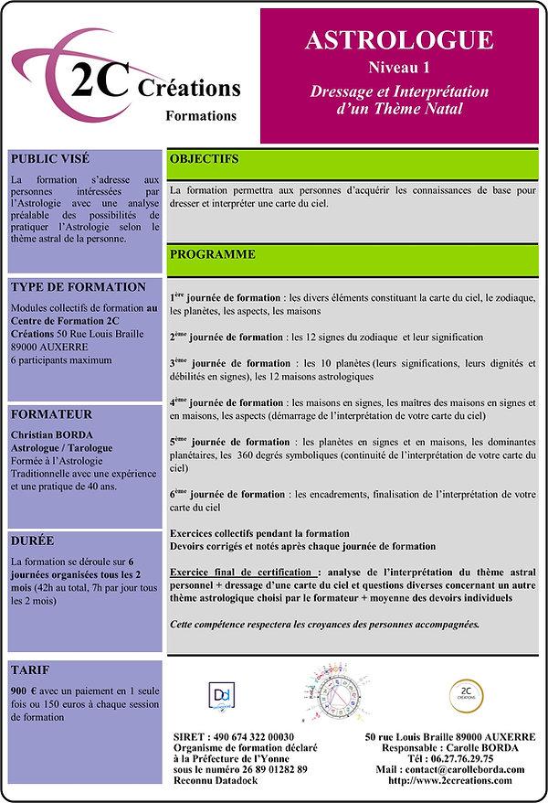 Formation 2C CREATIONS Astrologie de Bas