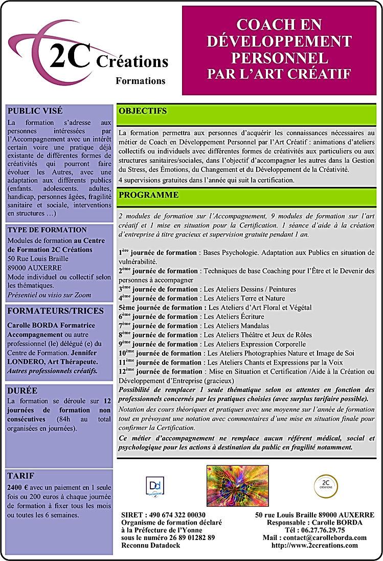 Formation 2C CREATIONS Coach en Développ