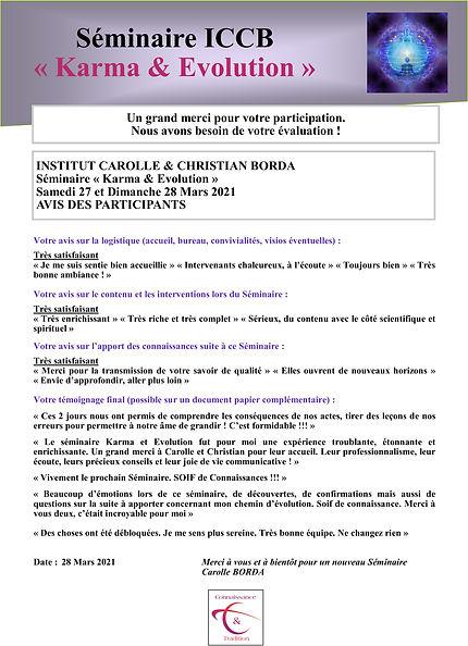 Evaluation Séminaire ICCB 27 et 280321 C