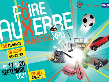 Participation à la Foire d'Auxerre du 17 au 20 Septembre 2021