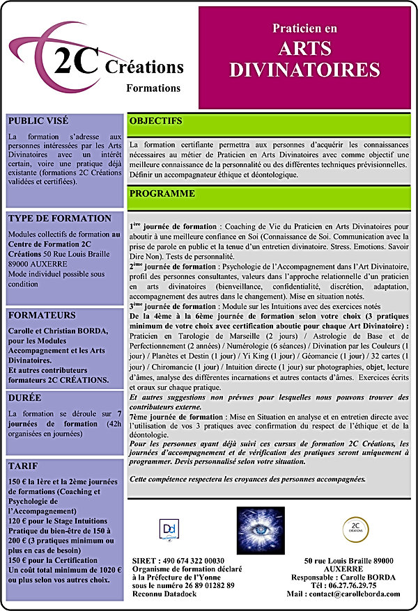 Formation 2C CREATIONS Praticien en Arts