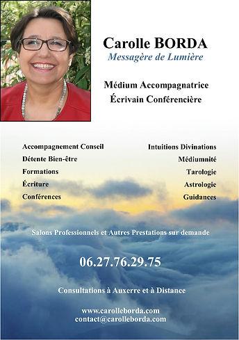 Carolle BORDA Médium Accompagnatrice Ecrivain Conférencière
