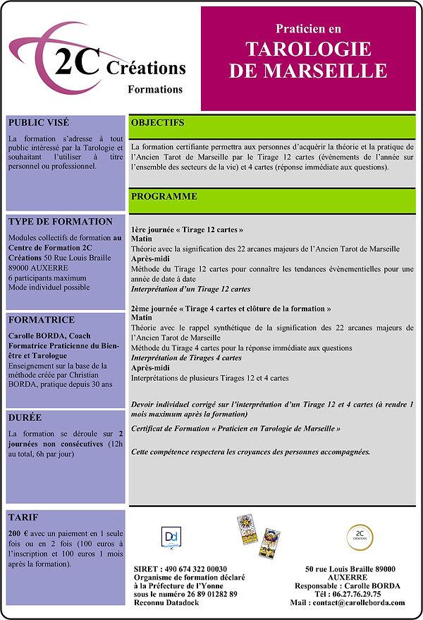 Formation 2C CREATIONS Tarologie Marseil