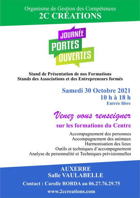Centre de Formation 2C CRÉATIONS Journée Portes Ouvertes Samedi 30 Octobre 2021 S.Vaulabelle Auxerre