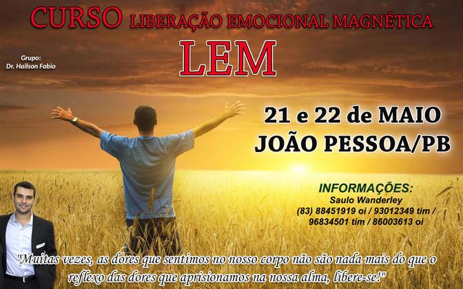 CURSO LEM 21 e 22 DE MAIO - JOÃO PESSOA /PB