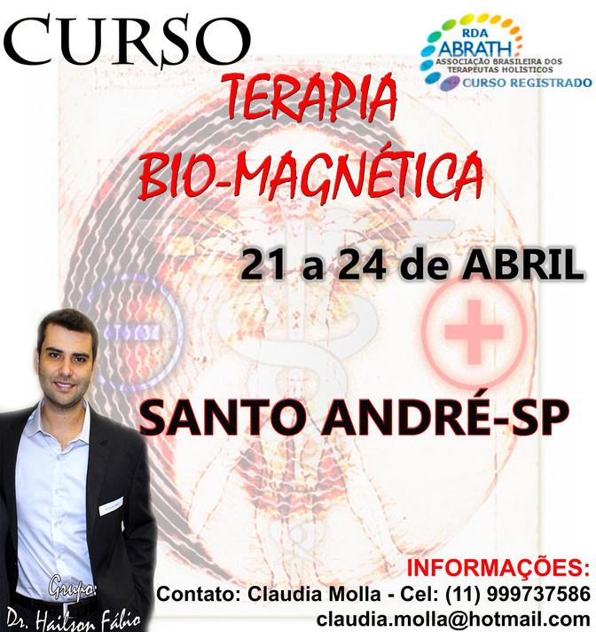 Curso Terapia Bio-Magnética Santo André/SP - 21 a 24 de Abril